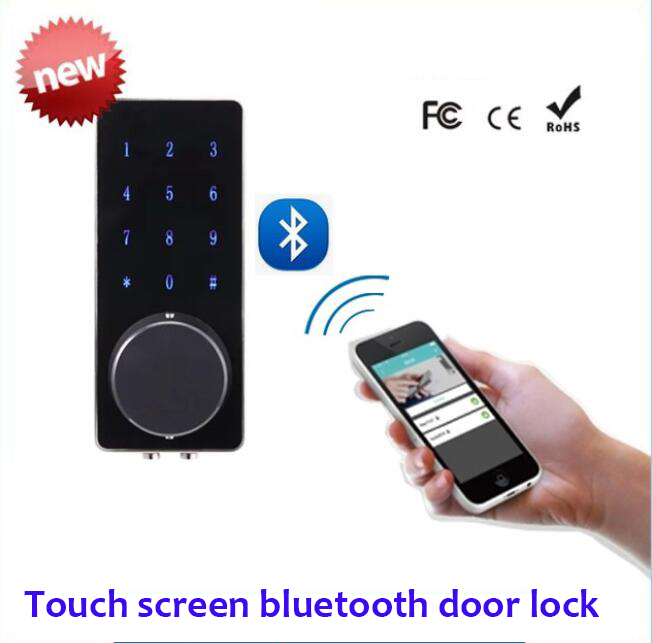 Remote control touch screen bluetooth smart lock hotel for 1 touch door lock
