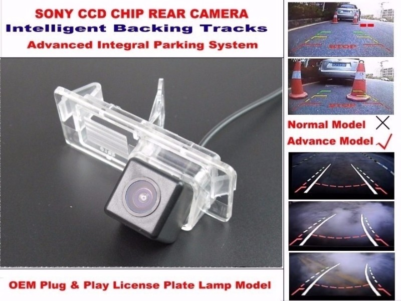 For Renault Clio 3  Lutecia 2005 ~ 2012 Smart Tracks Chip Camera  HD CCD Intelligent Dynamic Parking Car Rear View Camera (3)
