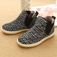 2016 Autumn And Winter Fashion For Children Boys And Girls Plus Velvet Boots Shoes Martin Boots Casual Shoes Size 26-35