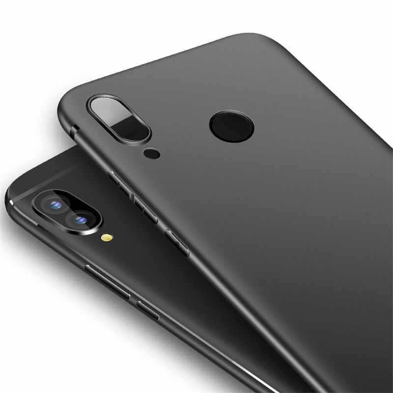 NFH Mềm Matte TPU Điện Thoại Màu Đen Trường Hợp Bìa Cho Huawei mate 20 Lite P20 Pro P thông minh Trên Honor 8 8X Max 9 10 Lite Y5 Y6 2018 Y9 2019