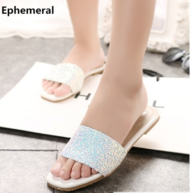 Indoor and outdoor flip flops flat slippers women slides in summer open toe  soft insole max size 9 10 14 cute floor footwear 1dc02bea4ca2