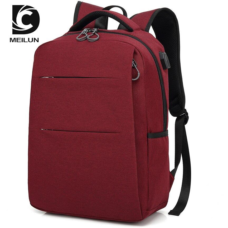 2018 USB sac à dos 15.6 pouces sac à dos pour ordinateur portable pour femmes hommes école sac à dos sac pour garçon filles mâle voyage Mochila - 3
