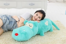 big lovely plush high quality hippo toy cartoon blue hippo doll gift about 120cm