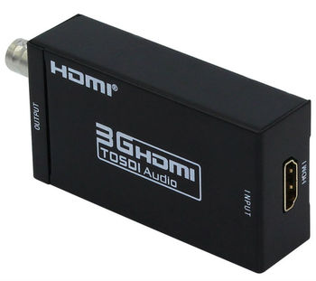 10 PCS Mini 3G 1080P HDMI to SDI SD-SDI HD-SDI 3G-SDI HD Video Converter with Power Adapter in Retail Package Drop Shipped