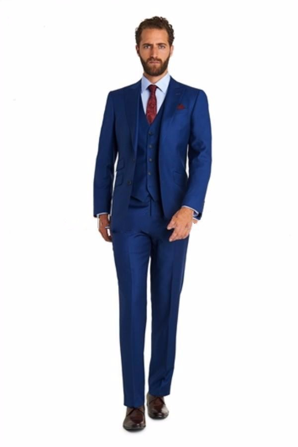 Royal Blue Groom Tuxedos Prom Clothing BestMan Terno