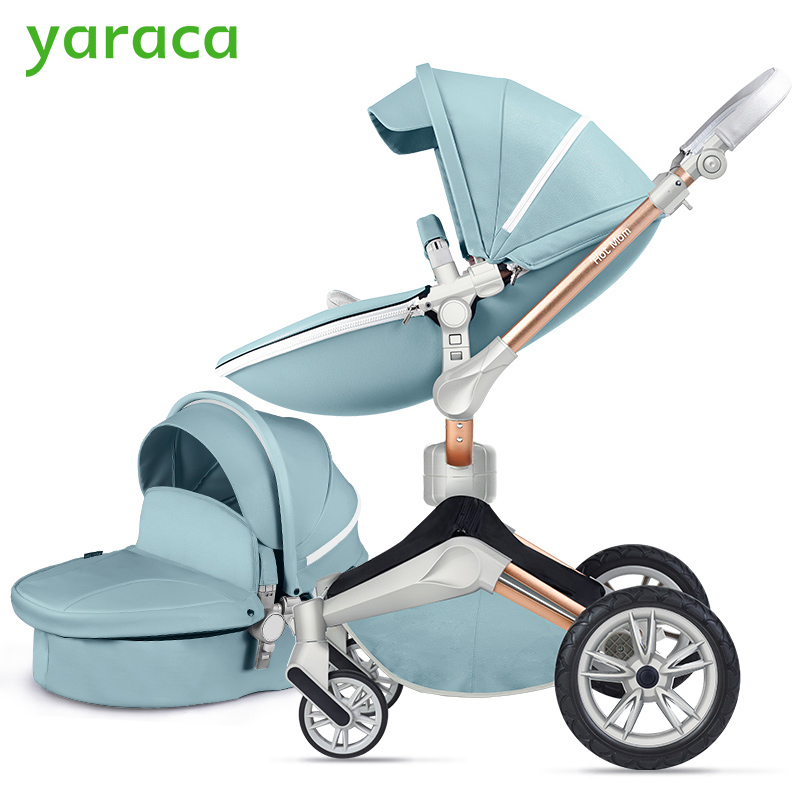 Luxury Baby Stroller 2 in 1 Foldable Carriages For Newborns High Landscape Baby Prams For Infant 360 Degree Rotate Cradle folding baby stroller lightweight baby prams for newborns high landscape portable baby carriage sitting lying 2 in 1