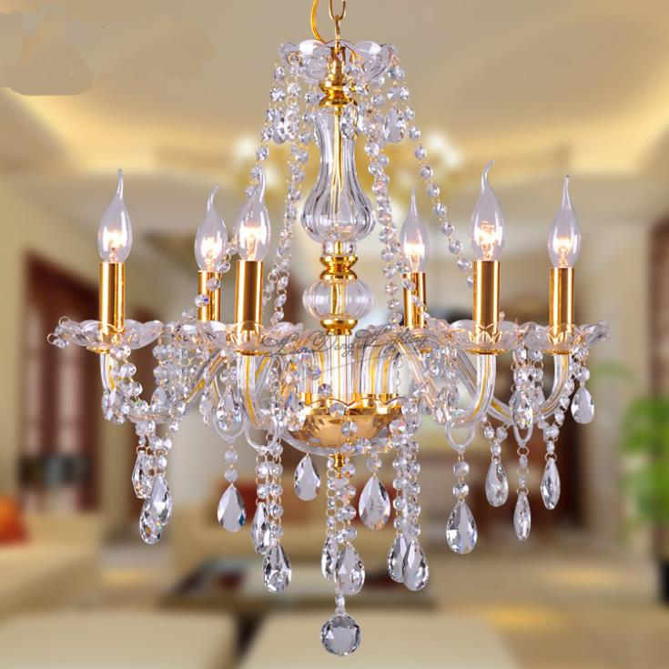 Free Shipping Gold Luxury Fashion Crystal Chandelier Light