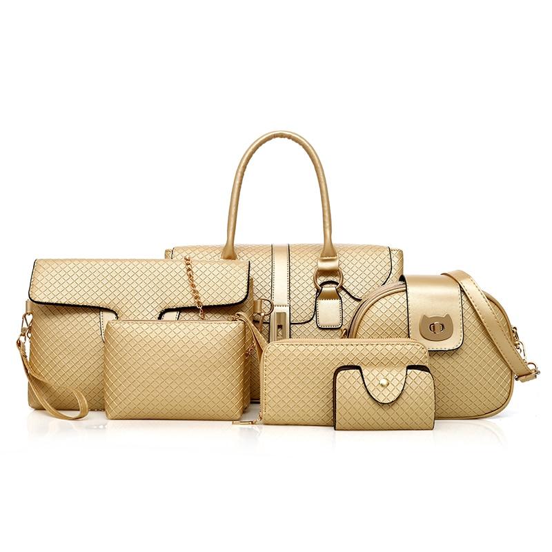High Quality PU Leather Handbags Diamond Lattice Ladies Shoulder Bag 2018 Fashion Women Composite Bag Female Messenger Bags Sac цена