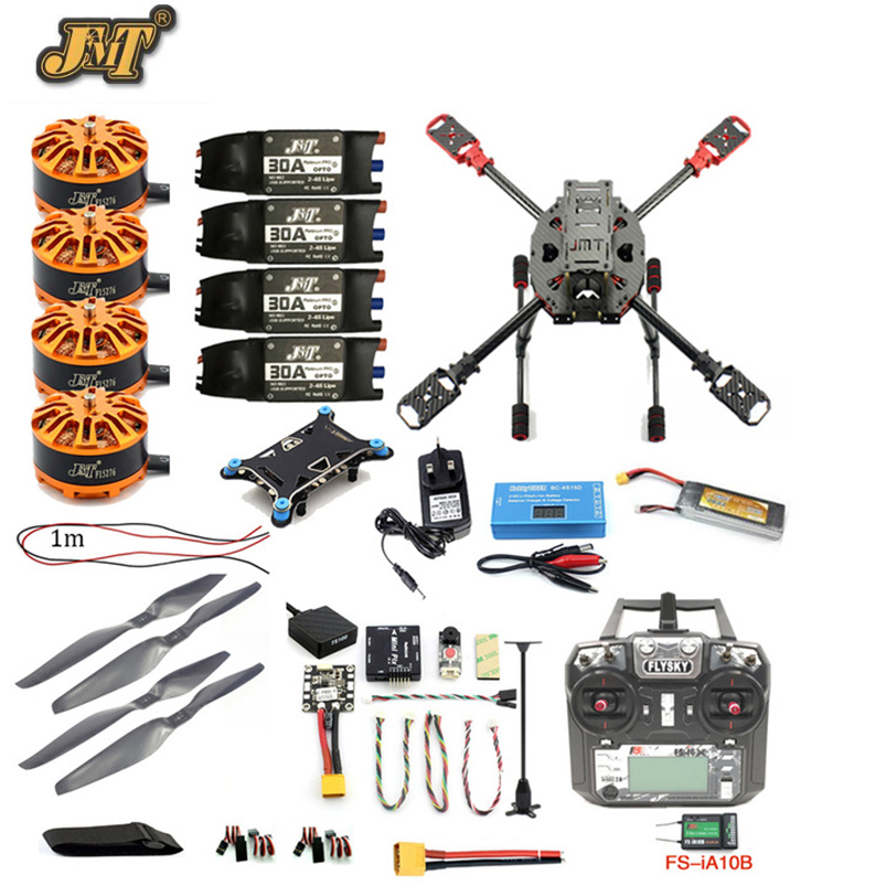 JMT Full Set DIY 2.4GHz 4-Aixs Aircraft RC 630mm Frame Kit Radiolink MINI PIX+GPS FS-i6X Brushless Motor ESC Altitude Hold