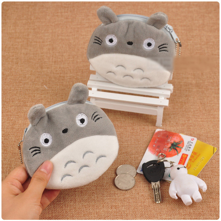 10cm Plush Soft My Neighbor Totoro Stuffed Mini Kawaii Stuffed Plush Toy Key Bag Lovely Plush Coin Purse Cat Debris Package