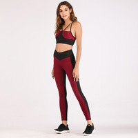 Women Tracksuit Yoga Gym Sport Clothing Quickly Dry Elasitc Leggings Sport Tank Top Bra+pants Running Jogging Fitness Yoga Set