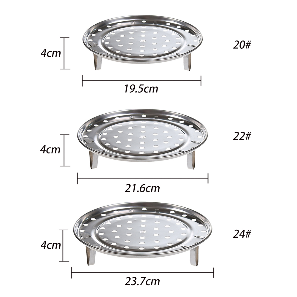 Round Stainless Steel Kitchen Supplies Steaming Stand Three Legged 3 Types Steamer Rack Cooking Tool Durable