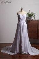 Vestido De Noiva Barato Elegant Wedding Dresses Summer Style Beach Wedding Gowns Corset Back Spaghetti Strap
