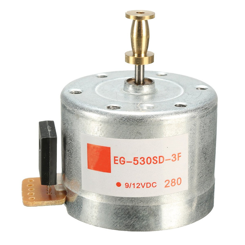 Excellent Quality 1PCS Mounting holes 25MM DC9-12V 3-Speed Turntables Motor 33/45 78RPM