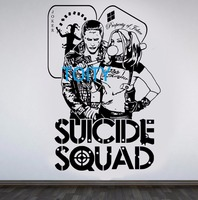 Harley Quinn Joker Wall Decal DC Comics Suicide Squad Vinyl Sticker Task Force X Movie Poster