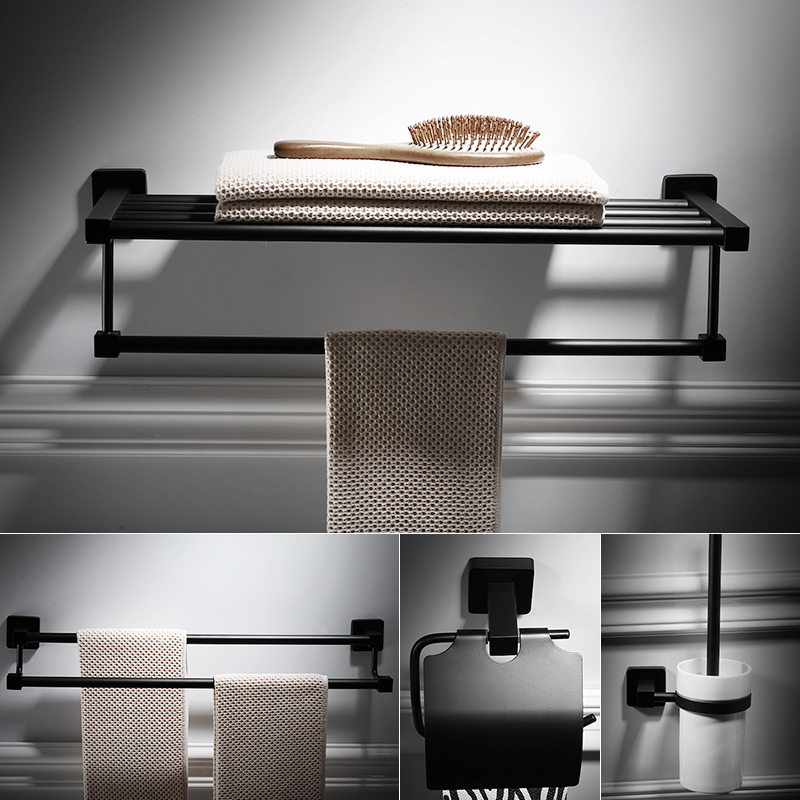 High Quality Black Stainless Steel Bathroom Accessories