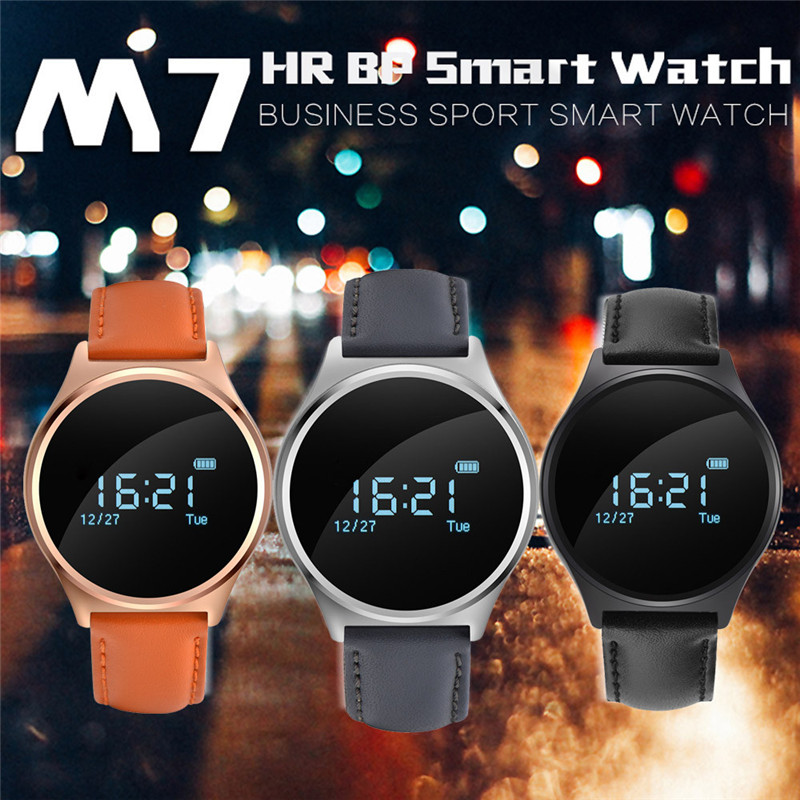 лучшая цена M7 Heart Rate Monitor Bluetooth 4.0 Wristband Fitness Tracker Smart Watch Bracelet 0.96 inch OLED Touch screen for Andrews IOS