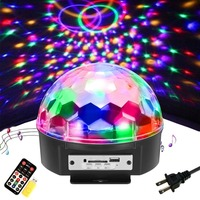 9 Colors 18W DJ Light Sound Active Crystal Magic Ball Disco Ball Led Stage Lights KTV
