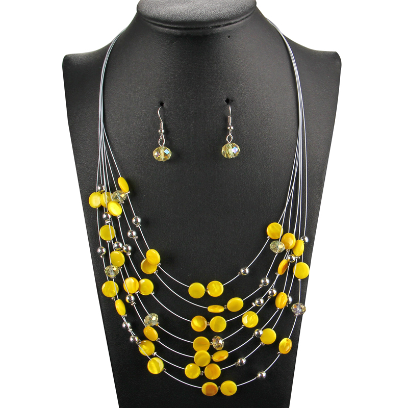Yellow Beads Multilayer...