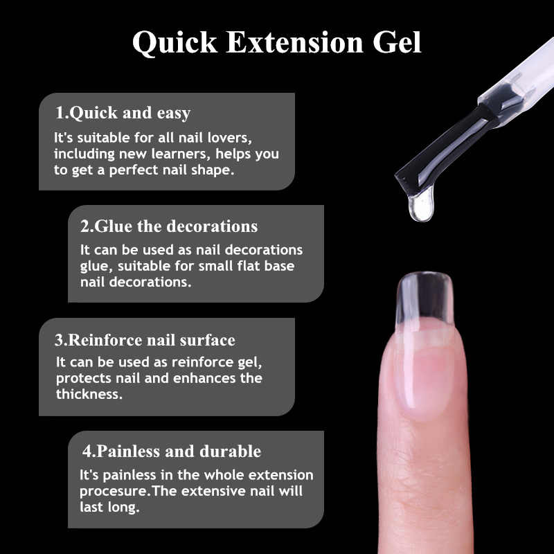 Ur Suiker 7.5Ml Acryl Poly Extension Gel Quick Building Gel Polish Clear Roze Nail Tips Builder Uv Gel Nail art Soak Off