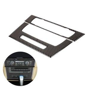 Image 1 - עבור BMW 3 סדרת E90 E92 E93 2005   2008 2009 2010 2011 2012 סיבי פחמן 2pcs רכב פנים מרכז בקרת CD פנל מסגרת כיסוי