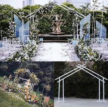 New wedding props, iron geometry shelf, outdoor stage background decoration