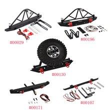 Pare choc arrière en métal RC avec support et lumières pour pneus de rechange, pour axiaux SCX10 et SCX10 II 90046 Traxxas TRX4 trx 4