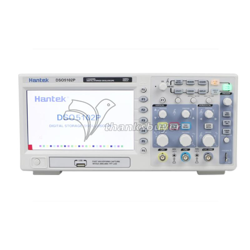 Hantek DSO5202P Digital Oscilloscope 200MHz 2CH 1GS/s 7'' TFT LCD 24K USB AC110V-220V dso 150 2 0 lcd usb dual channel oscilloscope