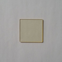 Optical Yellow Glass JB400 Gold Filter Passes Through 50*50*2mm before and after 400 Nm Cut-off