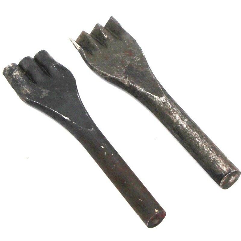 Junetree Creux Poinçon Outil pour En Cuir Trou Poinçon fleur ligne poinçon 3 dent/4 dent 8mm/5mm En Cuir Outil de métier 2 pcs ensemble