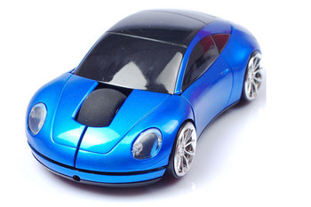 Wireless Mouse Sports Car Mouse 2.4Ghz USB Computer Mice Optical with LED Flashing Light เมาส์
