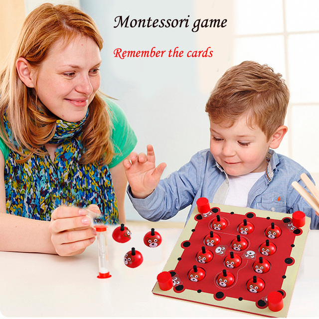 Montessori Education Wooden Toys Training brain board memory game baby kids wooden toys Tangram Jigsaw montessori puzzle board
