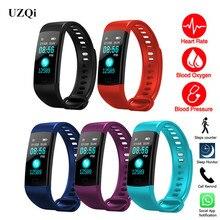 UZQi умный Браслет пульсометр кровяное давление браслет для фитнеса фитнес-активности Спорт трекер Водонепроницаемый телефон смарт-часы