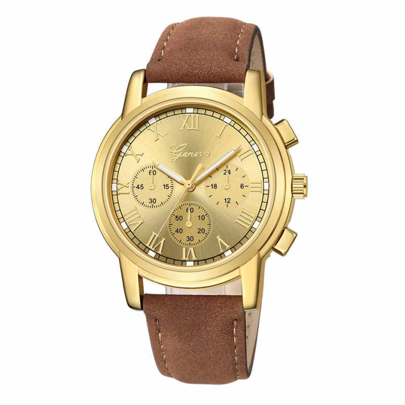 Vintage Woman Watches Luxury Quartz Watches Three Eyes Sport Military Dial Leather Band Wristwatches relogio masculino 40