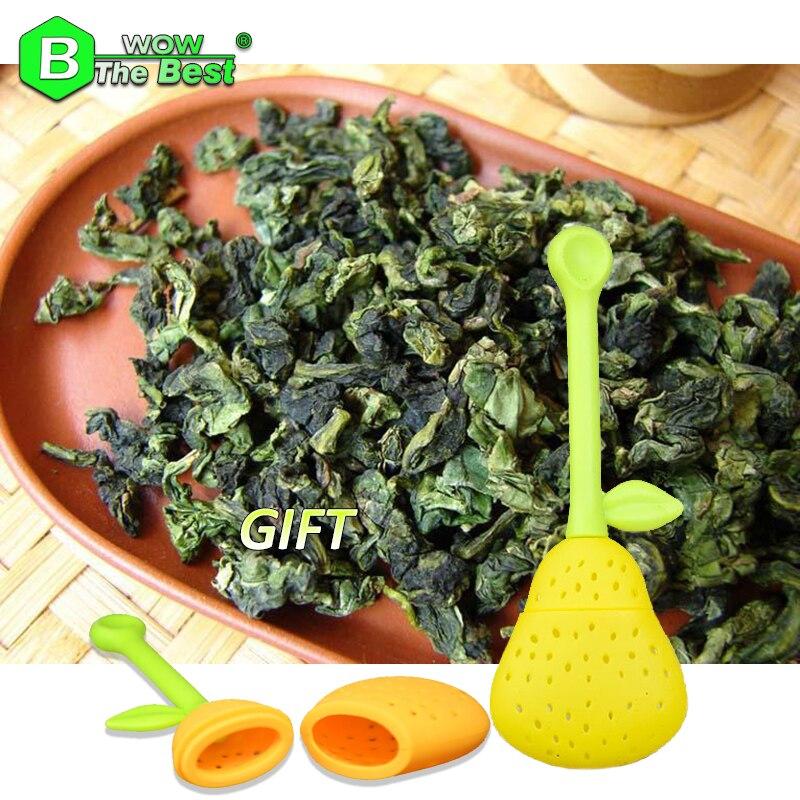 Funny Pear Tea Strainer + 500g Tieguanyin Tea 1725 flower aroma Chinese Oolong Tea Fujian Tie guan yin Teguanin Anxi Ti kuan yin