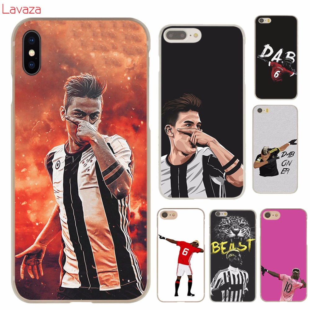 Lavaza Paul Pogba Football Soccer Hard Case for iphone 4 4s 5c 5s 5 SE 6 6s 6/7/8 plus X for iphone 7 case