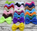 Large Lace Hair Bow with Clip for Girl and Woman Hair Accessories Boutique Lace Blush Bow Hairpin Wedding Hair Bow 12pcs/lot
