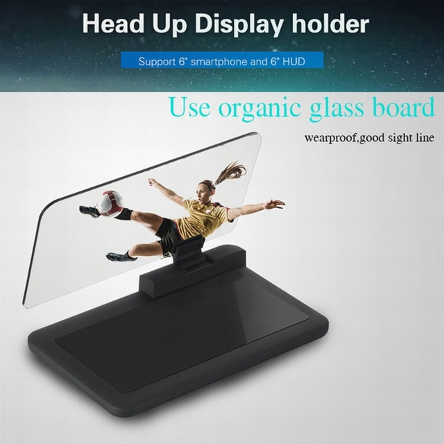Car HUD head up display in windscreen speed shaft revolution indicator coolant temperature warning dashboard