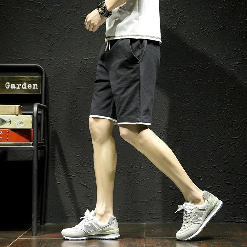 WEBONTINAL 2018 Summer Big Size 100% Cotton Shorts Men Casual Hip Hop Straight Fashion Mens Short Rock 6 Color K18201