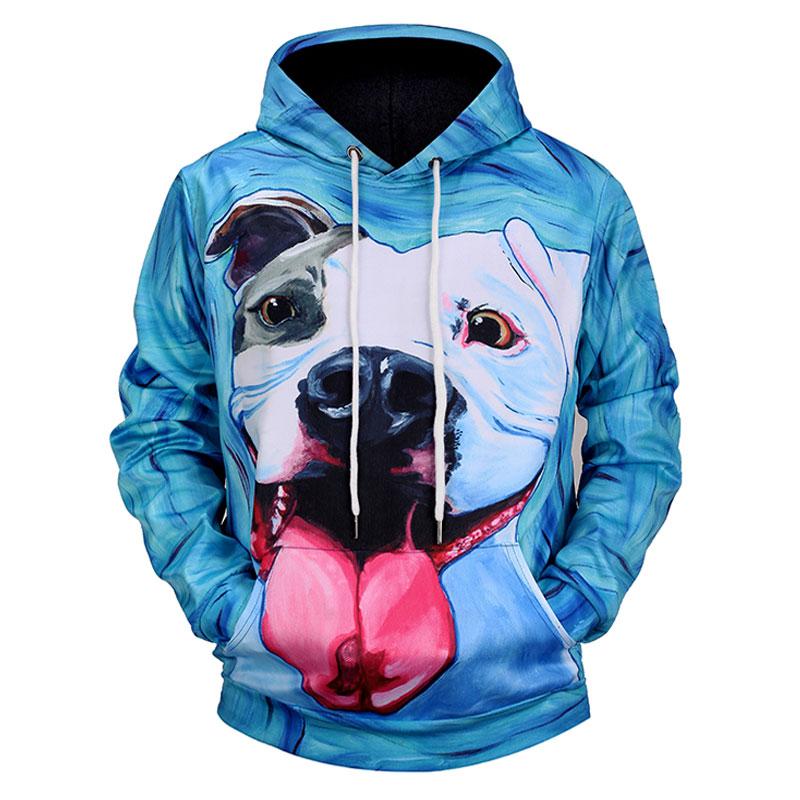 Headbook New Fashion Women/Men 3d Sweatshirts With Hat Print Spit Tongue Dog Hooded Hoodies Thin Autumn Hoody Tops WY77525553
