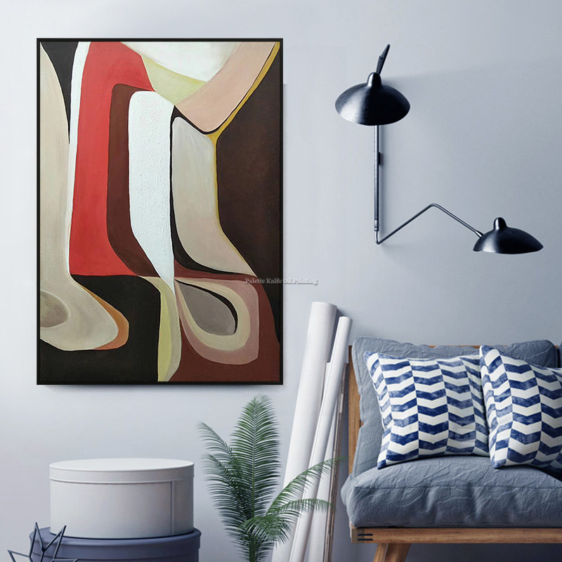 Геометрический, скандинавский, мордерн, абстрактная живопись на холсте, стиль Пикассо, акриловый квадрат, куадро декор, настенные художеств...