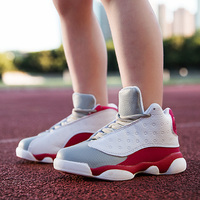2017 Hot Sale Teenage Boys Basketball Shoe Size 31 40 Kids Basketball Boots Lace Up Boys