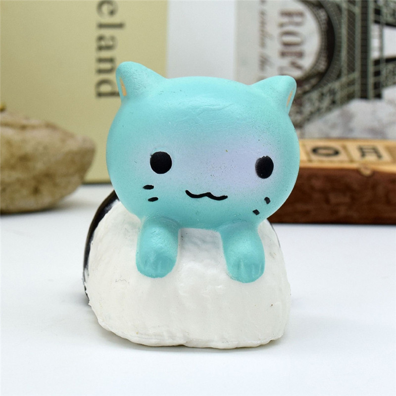 Sozzy 2018 # Antistress Elastic Environmentally PU Cat Antistress Steamed Bread Funny Gi ...