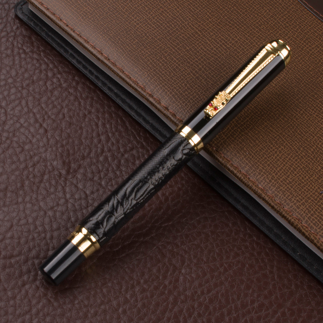 Luxury Gift Pen Set High Quality Dragon Roller ball Pen with Original Case Metal Ballpoint Pens for Christmas Gift 3