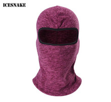 ICESNAKE Motorcycle Face Mask Cold-proof Autumn Winter Thermal Fleece Balaclava Moto Ski Cycling Caps