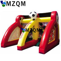 MZQM Inflatable Soccer shootout football inflatable football toss game, High quality outdoor game inflatable goal for football