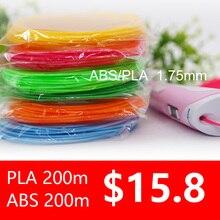 3d Ручка накаливания ABS/PLA 1,75 мм 200 м 20 видов цветов идеально 3d ручки пластиковые экологической безопасности пластиковые подарок на день рождения низкая цена