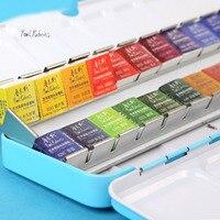 Rubens watercolor paint 12/24/48 color transparent watercolor pen set portable sub package with color palette art supplies