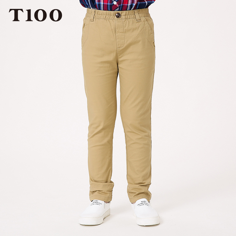 ФОТО T100 Boys Pants High Qulaity Casual Cotton Pants For Boys Warm Winter Kids Children's Clothes Sports Trousers Brand Kids Pants