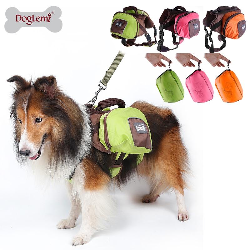 DogLemi Skládací Polyester Pet Sedlo Bag Outward Hound Cestovní Camping Turistika Psí Back Pack 3 barvy k dispozici
